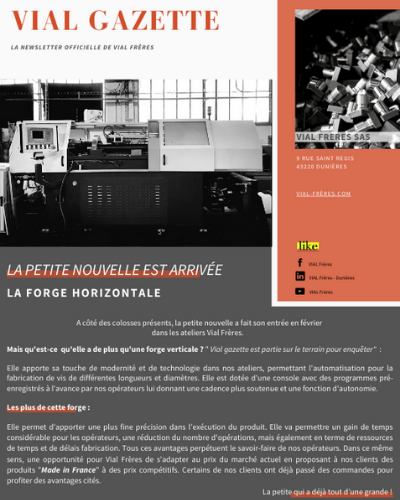 newsletter vial freres