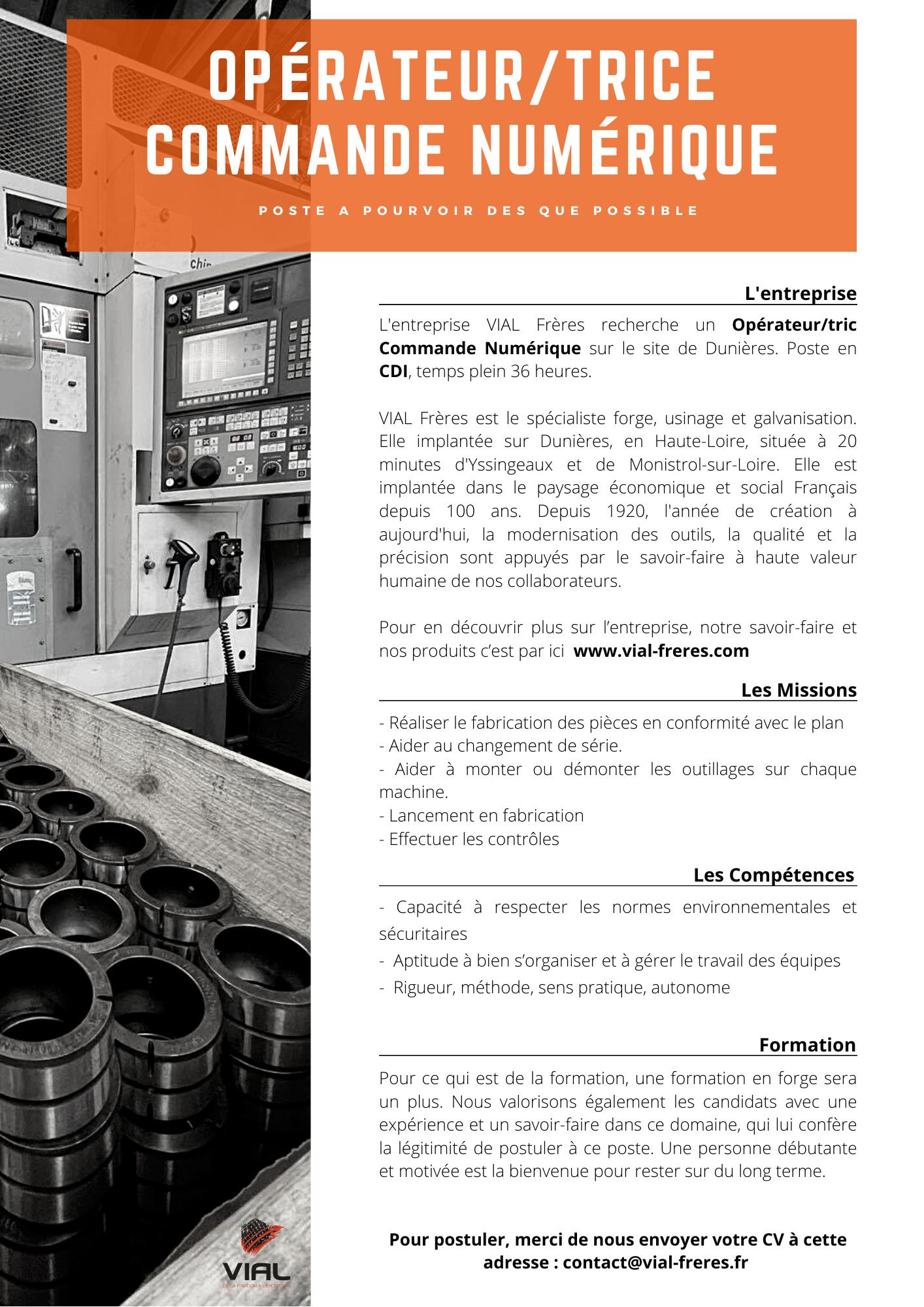 offre-demploi-VIAL-Opérateurtric-Commande-Numérique VIAL frères